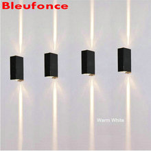 Wall Light Porch light Led Aluminum Wall Lamp 6w led bulbs Up and Down Lighting Porch Garden Lights 10pc/lot NB310