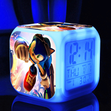 Sonic The Hedgehog cartoon game action figure LED 7 colors changes kids toys  classic toys super sonic supersonic
