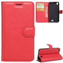 YINGHUI Lichi Skin Leather Phone Case For Homtom HT16 Wallet Card Slots Money Slots Multi-Function Cover Cases Accessories Part