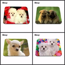 Mairuige Anti-Slip Laptop Thicken Gaming Cartoon Comfy Anime Two Cute Dog Mouse Pad Computer Laptop Gaming Mice Mat For Gamer(China)