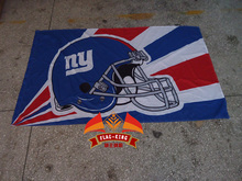New York Giants Ice hockey Rugby flag,Giants football soccer club banner,90*150 CM polyster basterball flag(China)