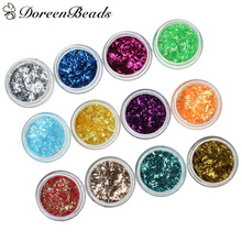 DoreenBeads Magic DIY Tool PVC Sequins Rectangle Hexagon Random Colors Shiny For Silicone Resin Mold Making 1Set/12PCs, 29*15mm