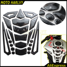 2016 High Quality motorcycle Accessories Oil Tank Sticker Carbon Fiber Decals For KTM BMW Kawasaki Suzuki yamaha Honda(China)