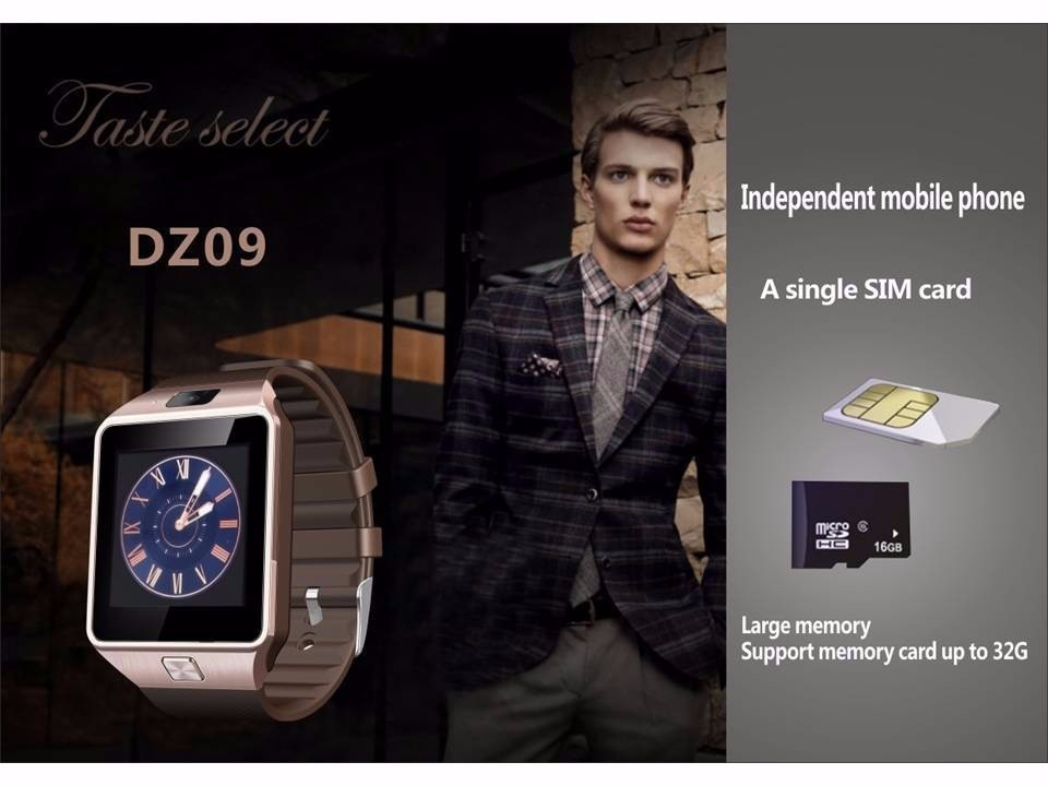 image for Fashion DZ09 Smart Watch Support SIM TF Cards For Android IOS Phone Ch
