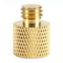 "Gold Color 1/4"" Female to 3/8"" Male Tripod Thread Screw Adapter Brass 1/4 3/8 for Tripod Camera Light Stand Accessories"