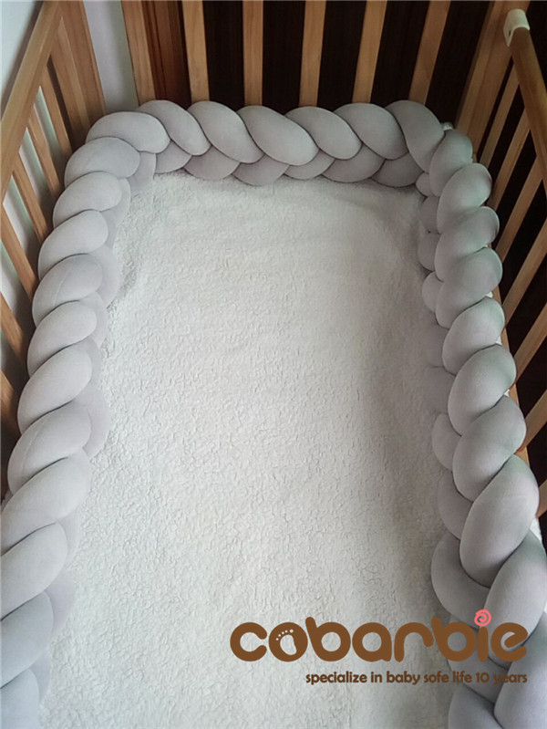 160 cm Baby Braided Crib Bumpers Knot Pillow Cushion,Nursery bedding,cot room dector<br>