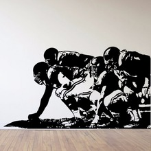 Offensive Linemen American Football Dorm Decor Silhouette WALL ART STICKER VINYL DECAL ROOM STENCIL MURAL HOME OFFICE