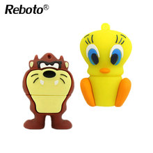 Reboto Daffy Duck 8GB 16GB 32GB 64GB Bugs Bunny Lion cat USB Flash Drive Pendrive animal 4GB U Disk Pendrive Memory Stick