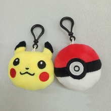 2 inch Novelty Pikachu Figures Anime Action Figures Soft Stuffed Plush Toys Pendant Keychain Doll Toy 100pcs(China)