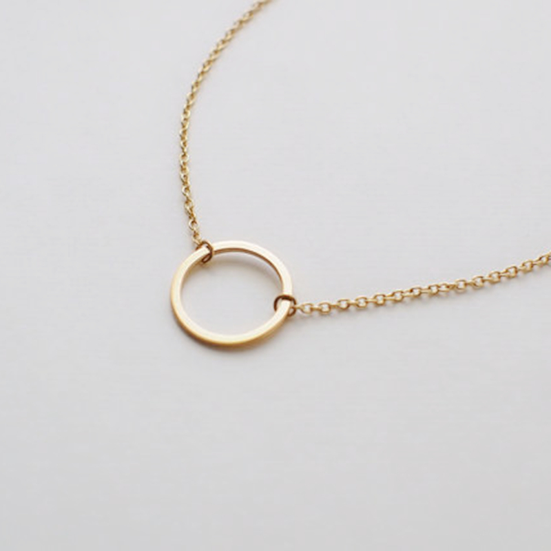 Aliexpress buy simple circle pendants necklace eternity aliexpress buy simple circle pendants necklace eternity necklace infinity silver gold minimalist jewelry necklace dainty circle gift from reliable aloadofball Image collections