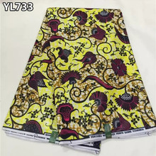 African 2016 new fall arrivals cotton wax fabric african real wax fabric nigerian prints wax fabric for african clothing YL733