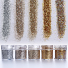 1 Box 10ml Dazzling Champagne Silver Nail Glitter Powder Nail Dust Tips Nail Tools for nail polish #18751