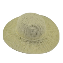 MAKE Hot Eaves straw hat female summer beach sun hat sun hat Milk white(China)