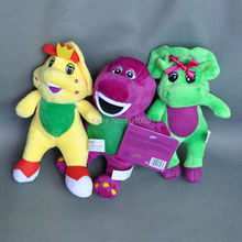 Free Shipping EMS 30/Lot New 3 Styles Q Barney & Friend Baby Bop BJ Plush Doll Stuffed Toy 9""