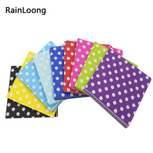 [RainLoong] Polka Dot Paper Napkins Decoupage Printed Beverage Event & Party Tissue Napkins Decoration Serviettes(China)