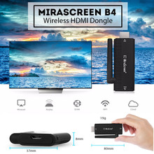 MiraScreen B4 Wireless HDMI Dongle AM8252B CPU 2.4GHz Wifi Full 1080P 128MB RAM Media TV Stick Support Miracast Airplay DLNA(China)