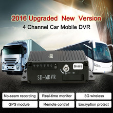 3G GPS Realtime MINI 4CH Car Mobile DVR Auto Video Recorder Vehicle Camcorder Driving Recorder with Remote Controller Encryption(China)