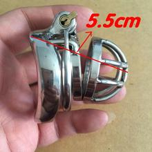 Buy Anti stripping ring male chastity penis lock stainless steel ball stretcher sex ring men male penis bondage male belt