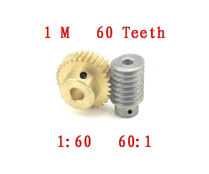 Free shipping/1M-60T reduction ratio:1:60 copper worm gear/ hole:8mm rod hole:5(6)mm/Meat Grinder Parts etc.<br>