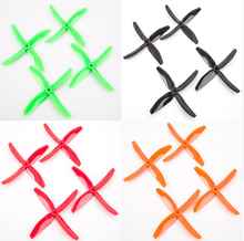 "2pairs/bag BeeRotor 5x4"" 4-Blades Propeller 5040 For Small Planes Multi-rotors Orange Green Red Black Color"