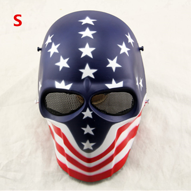 Camouflage Ghost Wargame Scary CS Paintball mask Outdoor Full Face Airsoft Tactical Skull Mask 19 colors choosed<br><br>Aliexpress