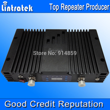 Lintratek 3G Repeater UMTS 2100mhz 75dbi Gain Control W-CDMA 2100MHz Cell Phone Signal Amplifier LCD Display 3G Signal Booster /