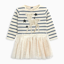 Little Maven Children Brand 2017 Cute Autumn Girls Dress With Cartoon Deer Pattern Printing Girls' Dresses Birthday Party