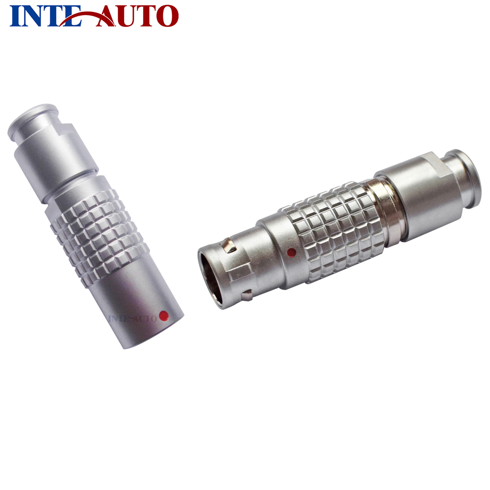 Replace ODUs metal push pull round connector, socket plug,M12 Size,Brass body, 4 solder contacts,FGG.1B.304 PHG.1B.304<br>