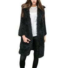 Oioninos Autumn Winter Fashion Full Sleeve Faux Fur Coat Women Tops Warm Fluffy Outwear Casual Warm Jacket