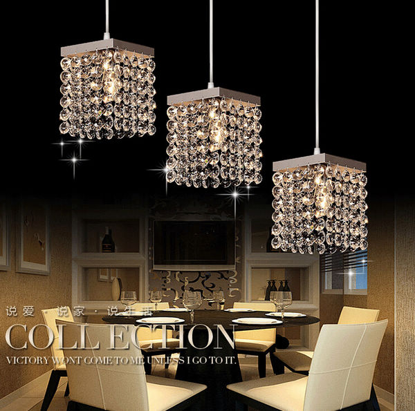 Modern crystal bead string Pendant Light Suspension Lamp Dining room Kitchen bar Lighting<br>