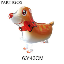 Wholesale Free Shipping 10pcs/lot Sika Deer balloon walking balloons animals inflatable air balon party supplies kids class toys