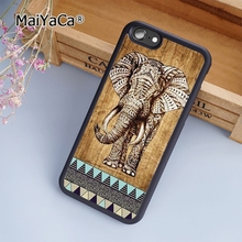 MaiYaCa Indian Elephant with wooden style soft mobile cell Phone Case Cover For iPhone 7 Plus Custom DIY cases luxury shell(China)