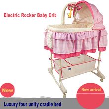 2016 Real Sale Baby Crib Baby Crib, Electric, Rocker, Plus Mosquito Net, Swing Bed, Cradle, Certificated Ce Multifunctional Bed