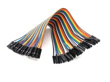 20pcs 20cm 2.54mm 1p-1p Pin Female to Female Color Breadboard Cable Jump Wire Jumper(China)