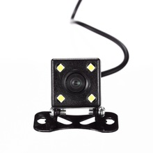 4 Led Lamps Night Vision Reverse Camera HD CDD Rear View Camara Lens 2.5mm Jack With 6 Meters Cable For Car DVR Mirror Recorders