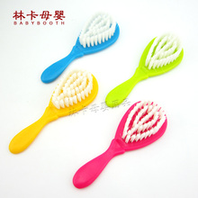 2016 New Hot Solid 7-9 Months 10-12 Months Plastic Sale Baby Brush Boy Girl Safety Soft Hair Shower Design Scalps Free Shipping