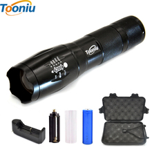 E17 XM-L T6 3800LM Aluminum Waterproof Zoomable CREE LED Flashlight Torch light for 18650 Rechargeable Battery or AAA +Clip A110