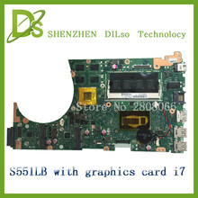 SHUOHU s551lb For ASUS S551LB S551LA S551LN  Vivobook Laptop motherboard  i7 100% tested S551LB  motherboard new motherboard