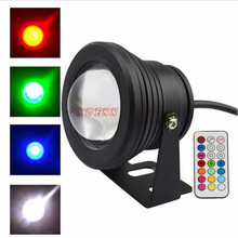 10W RGB 12V LED underwater light single color for swimming pool,flood light withconvex glass lens and IP68 waterproof