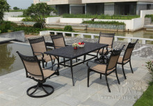 5-piece cast aluminum patio furniture Outdoor furniture transport by sea