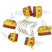 Pool Snooker Table Cotton Nets Pockets with Fringe Brass Finish Irons for Children(China)
