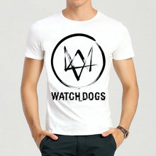 Watch Dogs T-Shirt Summer Short Sleeve White Color Fashion Game Watch Dogs Logo Top Tees T Shirt For Men Women(China)