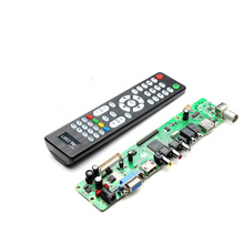 New Arrival Top Selling V56 Universal LCD TV Controller Driver Board PC/VGA/HDMI/USB Interface With Remote Control(China)