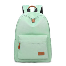 Solid Color Women Backpacks School Children Schoolbag Leisure Korean Ladies Back Pack Travel Shoulder Bags Teenagers Girls