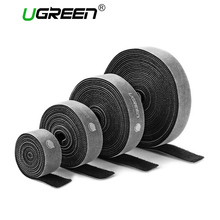 Ugreen Nylon Cable Winder Wire Organizer Eearphone Holder Mouse Cord Protector Cable Management For Samsung iPhone Ethernet Wire(China)