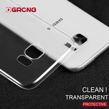 Transparent TPU Cover case for Samsung Galaxy S7 S7 Edge Silicone Soft Case For Samsung S8 S8 Plus Ultra Thin Phone Cases(China)
