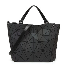 2017 Bao Bao bag Women Luminous sac baobao Bag Diamond Tote Geometry Quilted Shoulder Bags Laser Plain Folding Handbags bolso(China)