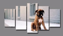Unframed 5 Panels French Bulldog poster living room cuadros modernos Canvas modular Painting Decorative Photos Dog Lovers Decals