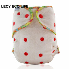 LECY ECO LIFE all in one size organic bamboo fitted diaper, natural bamboo AIO baby cloth diaper need use with a diaper cover(China)