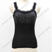 Girl Women's Rhinestone Sequin Lace Tank Top Sling Camisole Cami Vest Slim(China)